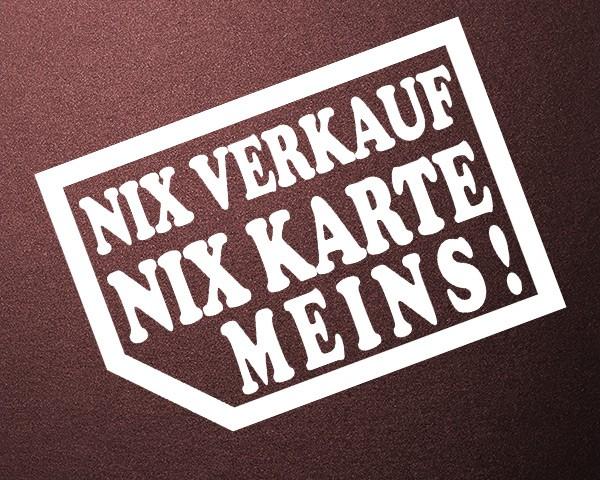 Auto Aufkleber Nix Verkauf Meins - Autohändler