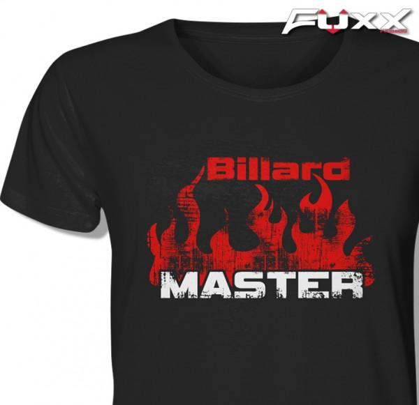 "Billard Shirt "" Billard Master "" Profi - Feuer schwarz"