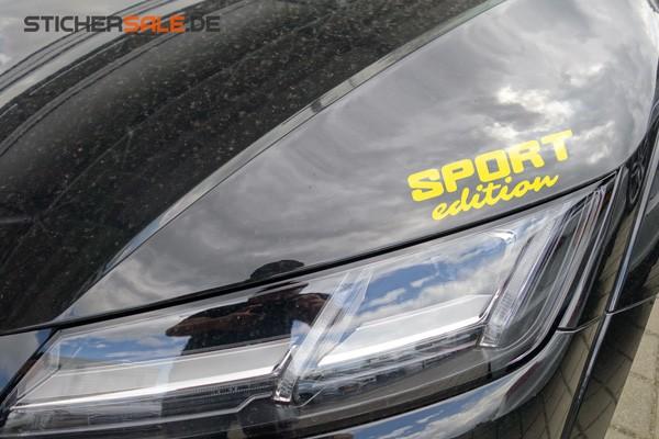 """Schriftzug """" Sport edition """" Aufkleber"""