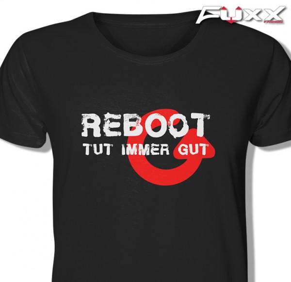 "EDV Shirt "" REBOOT tut gut "" Premium schwarz"