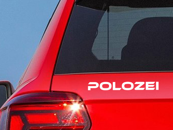 auto aufkleber polozei vw polo polizei auto sticker aufkleber sticker t shirts. Black Bedroom Furniture Sets. Home Design Ideas