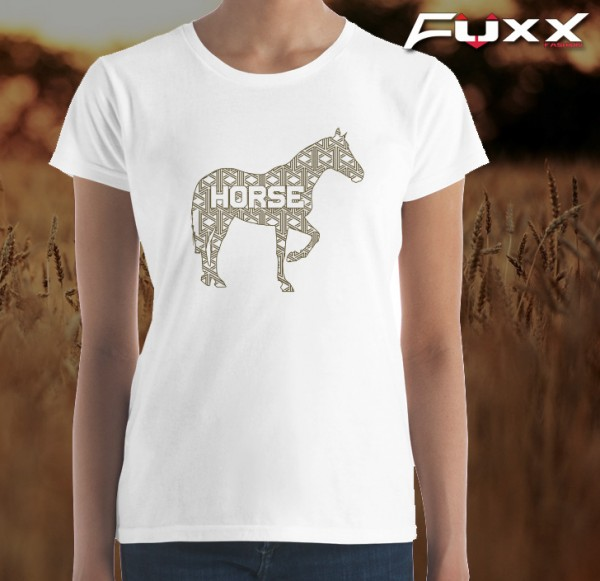 "Premium Shirt "" Horse "" Pferd mit Muster"