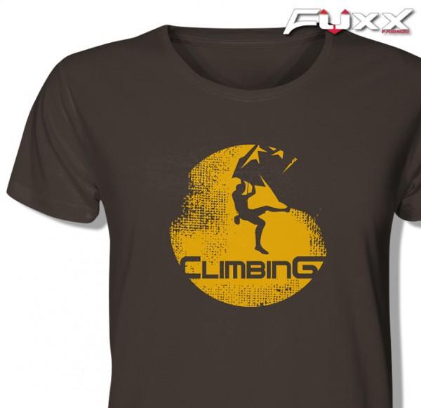 "Premium Shirt "" CLIMBING "" Klettern Berge Bouldering"