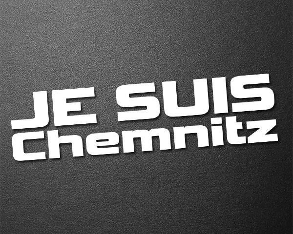 Je Suis Chemnitz Aufkleber Sticker Heckscheibe