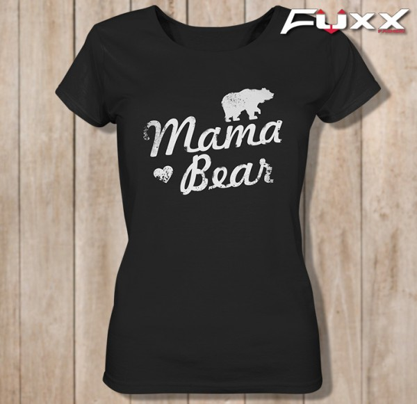 "Ladies Shirt "" MAMA BEAR "" Bär schwarz"