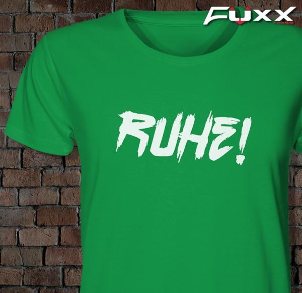 "Lehrer Shirt "" Ruhe ! "" Premium grün"