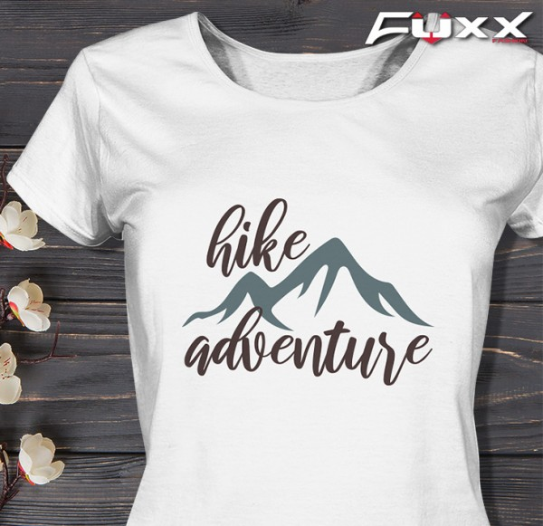 "Ladies Wandern Shirt "" HIKE ADVENTURE "" weiß"