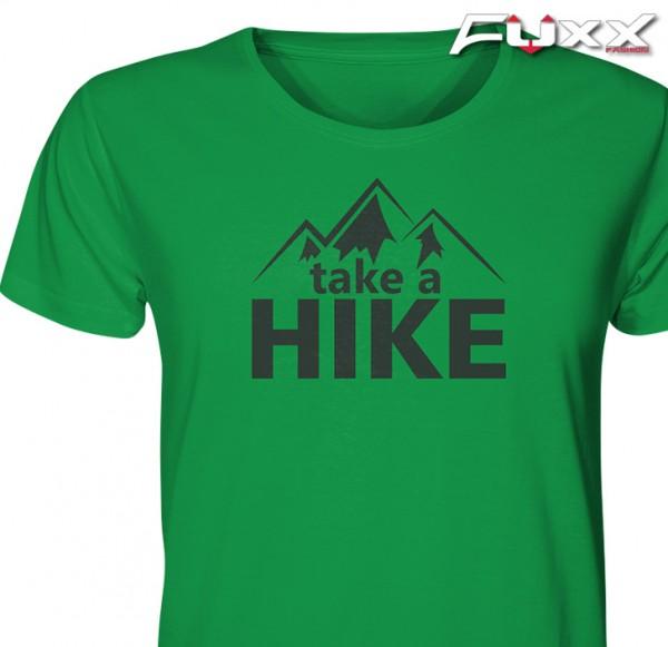"""Wandern Shirt """" TAKE A HIKE """" Berge Grün"""