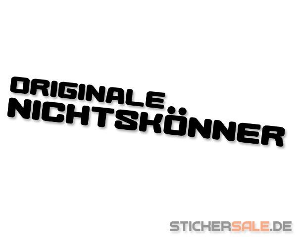 """"""" ORIGINALE NICHTSKÖNNER """" Sticker"""
