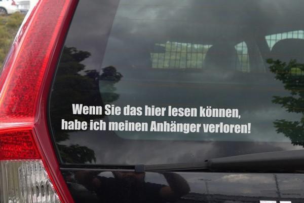 """Sticker """" Hänger verloren """" Aufkleber Fun Lustig"""