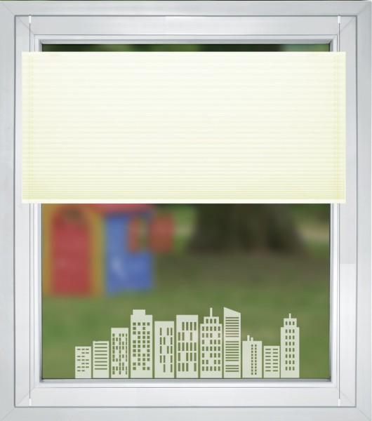 """Fensteraufkleber """" Stadt Silhouette """" Blumenmotiv mit Schmetterling Sticker Milchglasfolie"""