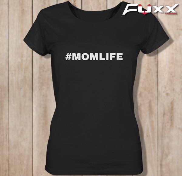 "Ladies Shirt "" # MOMLIFE "" Mütter schwarz"